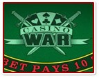 Odds of casino war